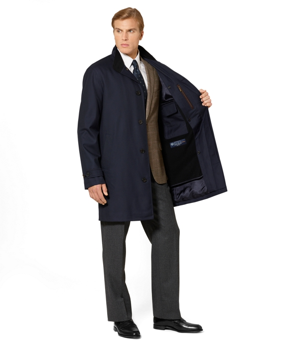 Men's Navy Cotton Car Coat | Brooks Brothers