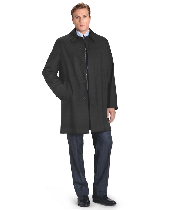 Plain Weave Car Coat Black