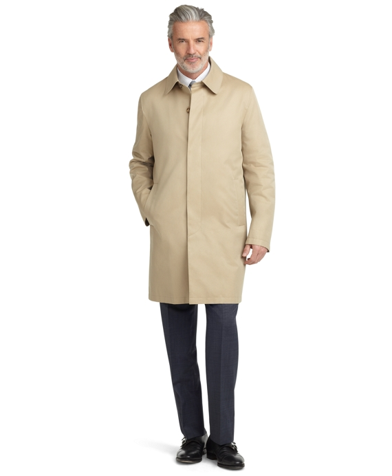 Cotton Car Coat Tan
