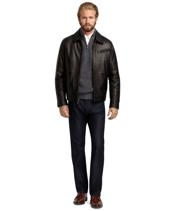 Elliot Leather Bomber Black