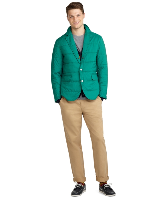 Quilted Blazer Evergreen