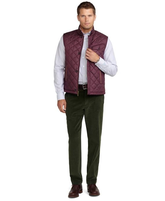 Quilted Walking Vest Wine