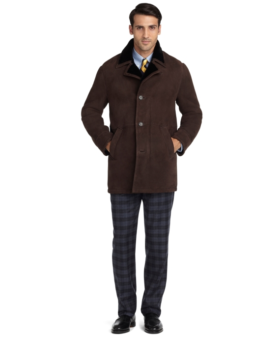 Garret Shearling Coat Brown