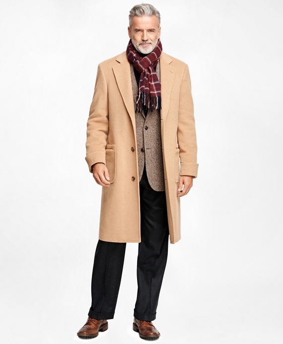 Golden Fleece® Single-Breasted Polo Coat Camel