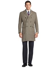 Double-Breasted Twill Topcoat