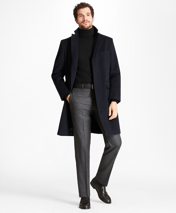 Golden Fleece® BrooksStorm® Westbury Cashmere Overcoat Black