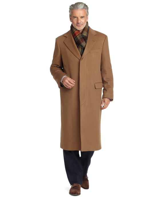 Golden Fleece® BrooksStorm® Westbury Cashmere Overcoat Camel