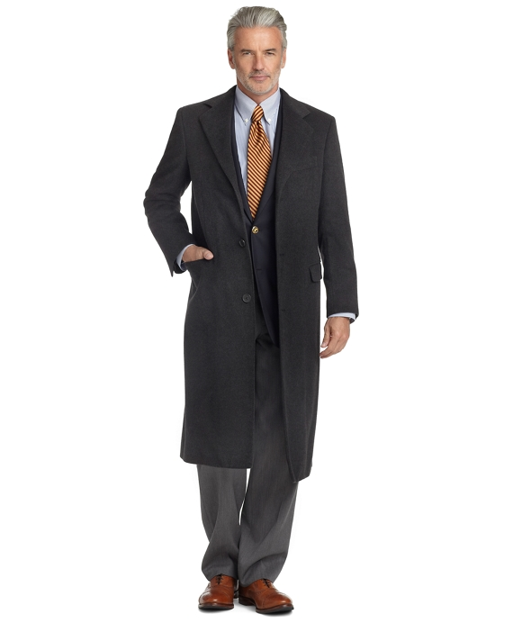 Golden Fleece® BrooksStorm® Westbury Cashmere Overcoat Charcoal