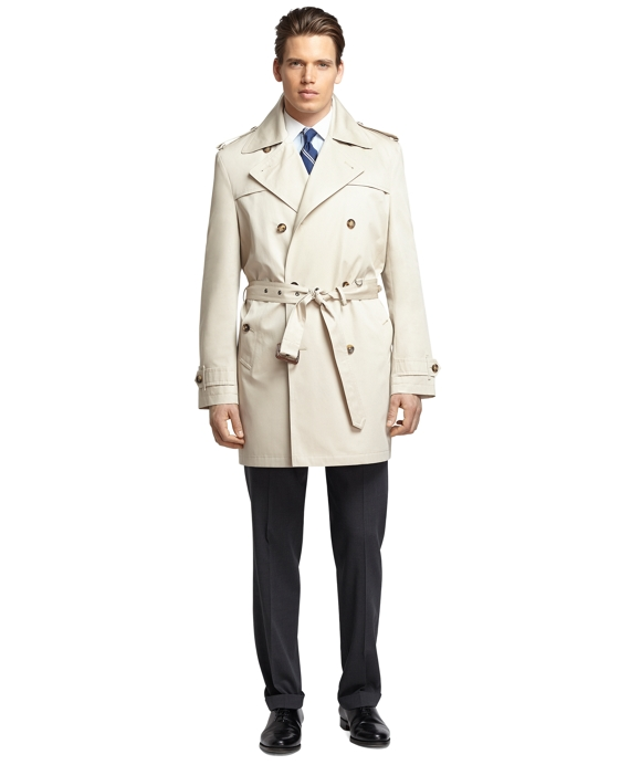 Double-Breasted Trench Coat Taupe