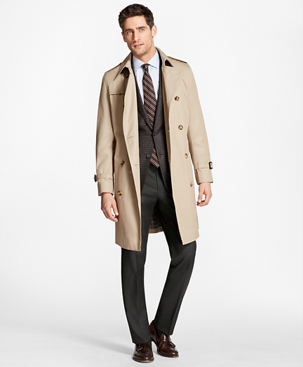 Double-Breasted Khaki Trench