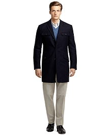 Cashmere and Wool Car Coat