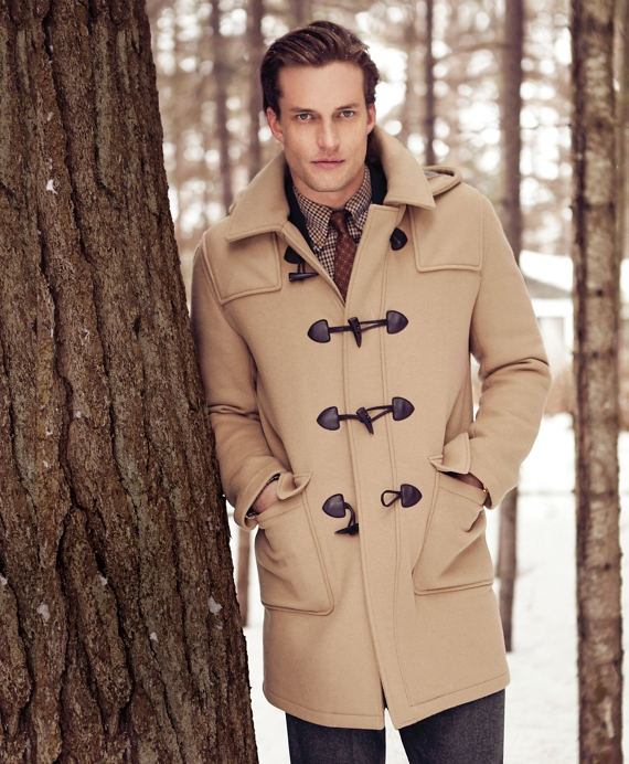 Men's Wool Duffle Coat | Brooks Brothers