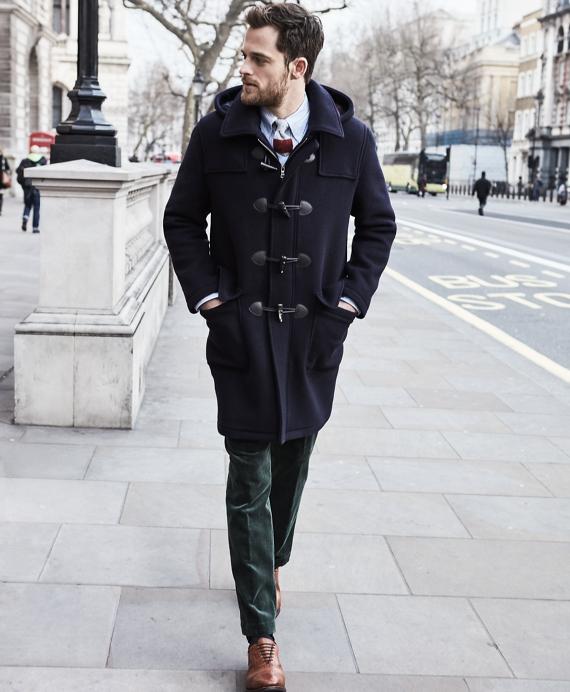 Men's Wool Duffle Coat   Brooks Brothers