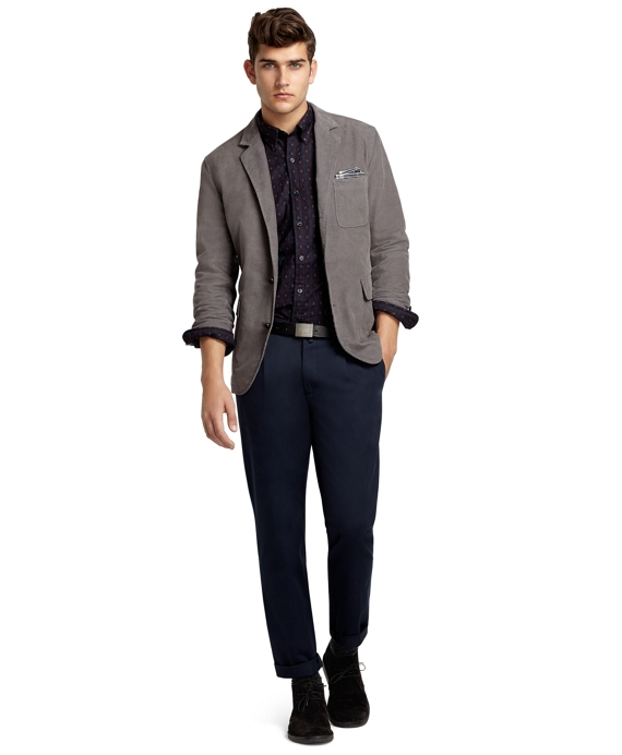 Corduroy Sack Coat Grey