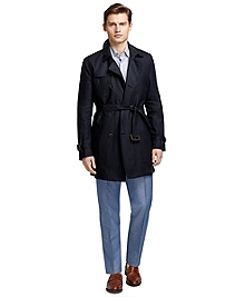 Double-Breasted Bonded Linen Trench