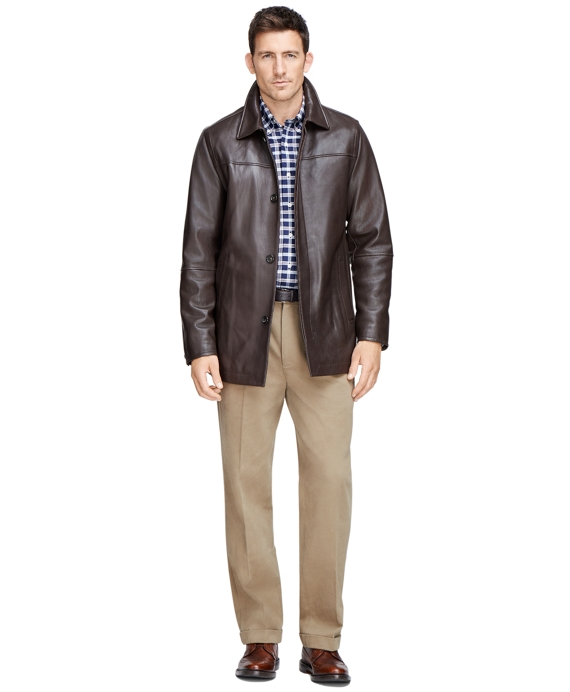 Leather Car Coat - Brooks Brothers