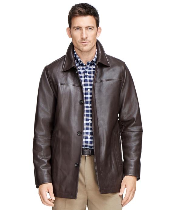 Leather Car Coat - Brooks Brothers