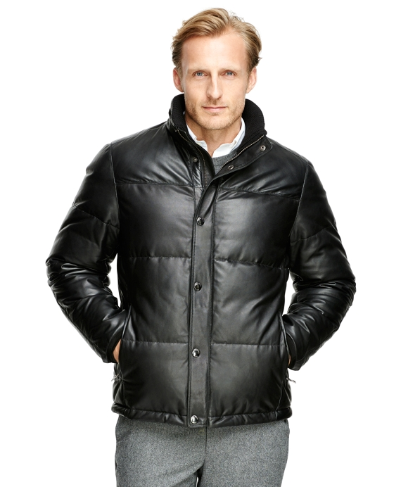 Leather Down Jacket - Brooks Brothers