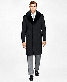 Shearling Collar Chesterfield Coat