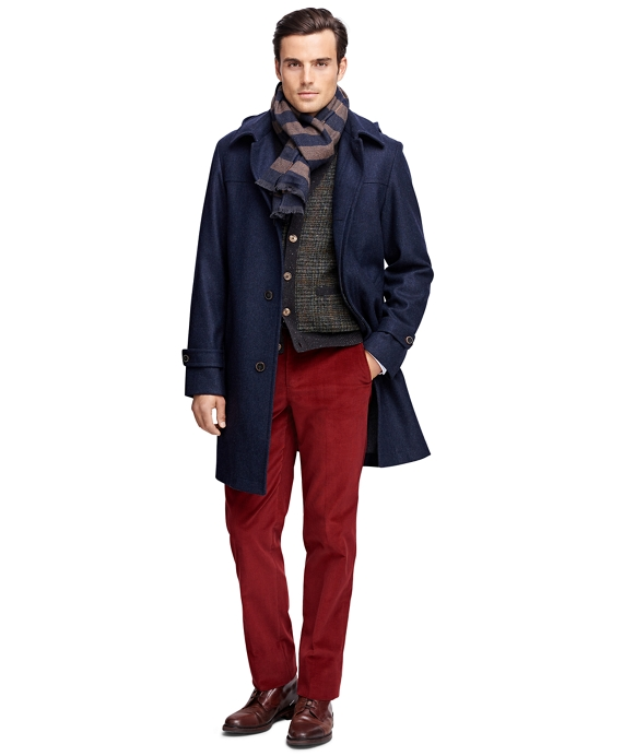 Double-Face Duffle Topcoat Navy