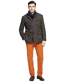 Plaid Harris Tweed Hybrid Jacket