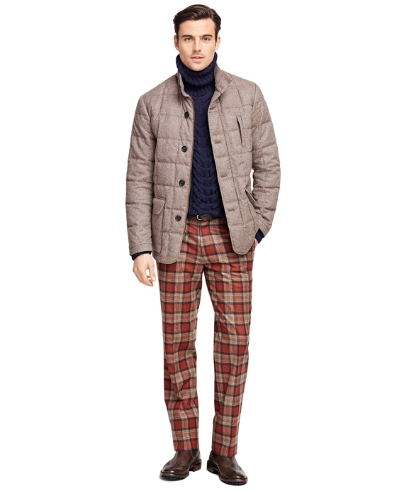 Tweed Quilted Jacket Brown