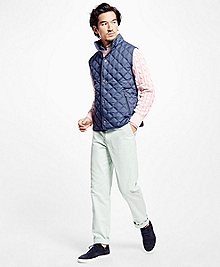 Lightweight Diamond Quilted Vest