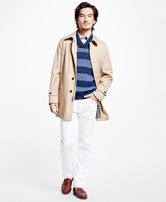 Bonded Single-Breasted Trench Coat