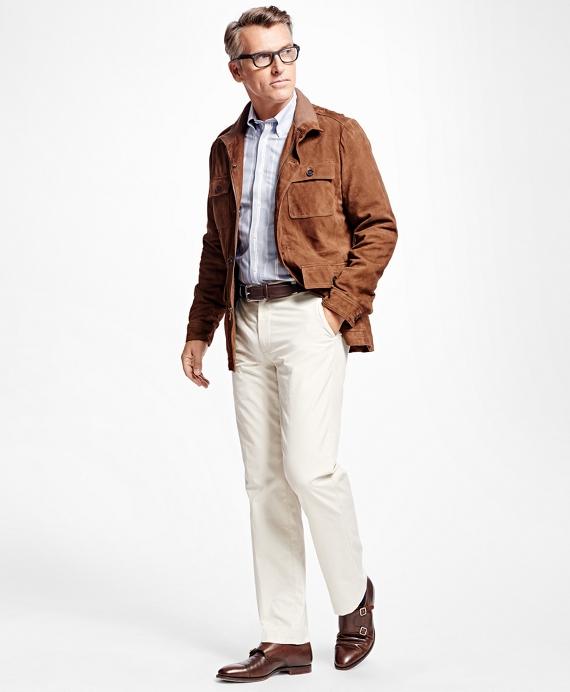 Suede Field Jacket Brown