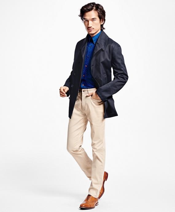 Cotton Twill Pea Coat