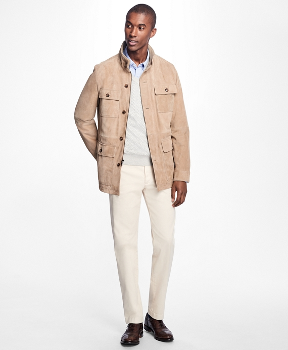 Suede Field Jacket Tan