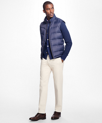 Lightweight Channel Quilted Down Vest