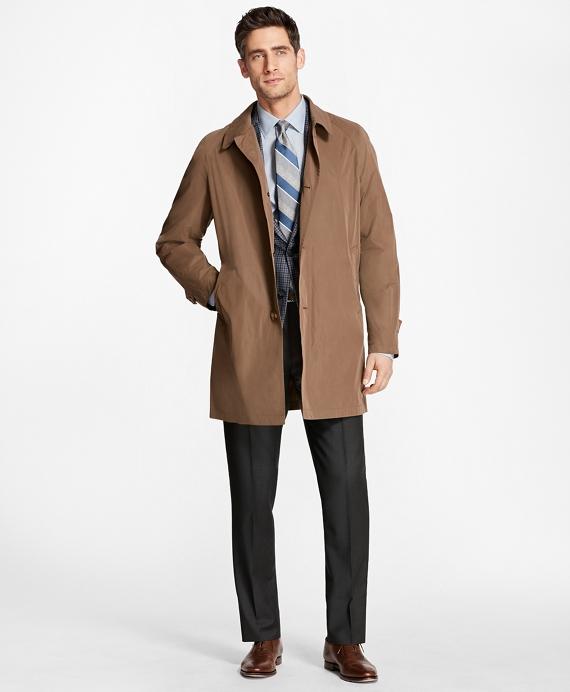 Single-Breasted Rain Coat Tan