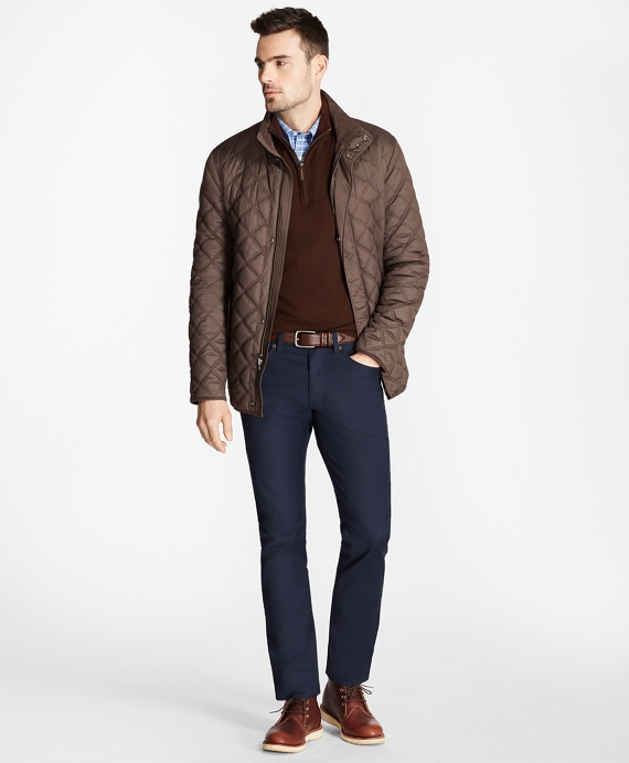 Quilted Walking Coat Brown
