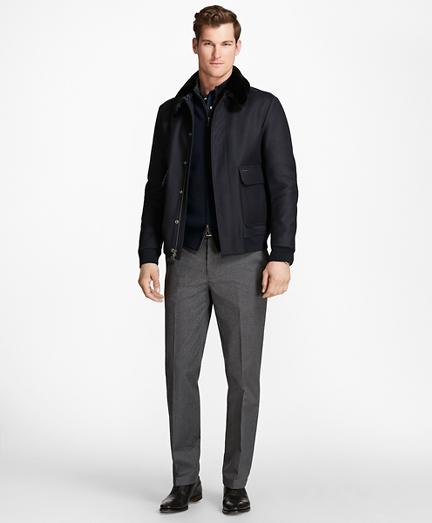 Fur Collar Wool Bomber