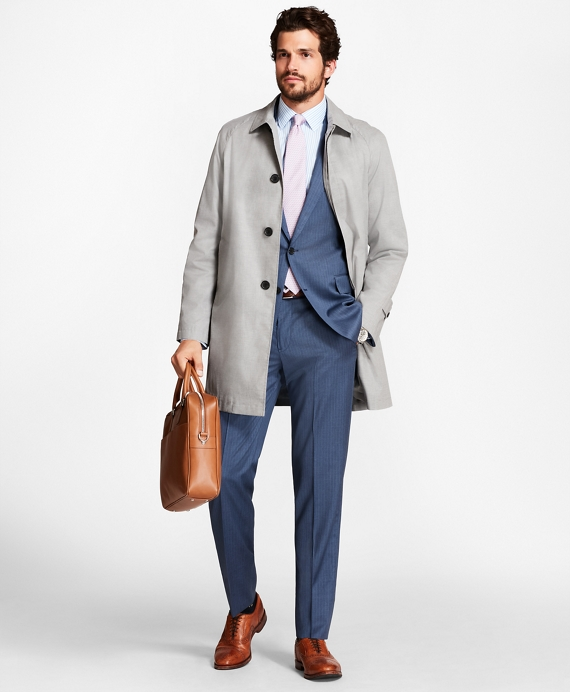 Sharkskin Trench Coat