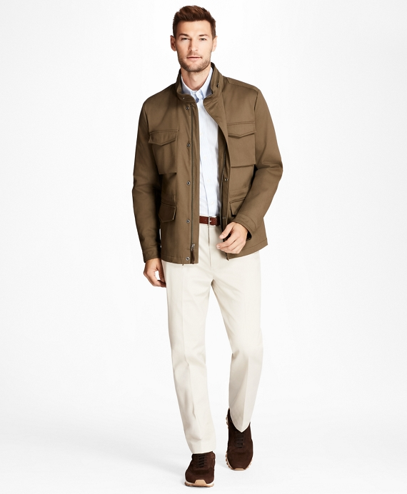 Water-Repellent Cotton Jacket Olive