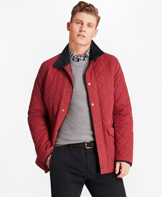 Quilted Field Coat Red