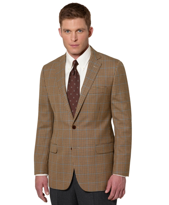 Fitzgerald Fit District Check with Blue Deco Sport Coat Tan