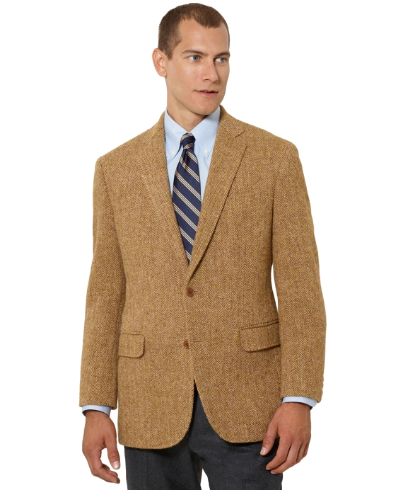 Madison Fit Herringbone Harris Tweed Sport Coat Gold