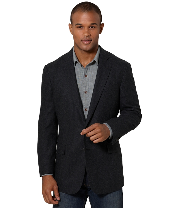 Regent Fit Soft Jacket Charcoal