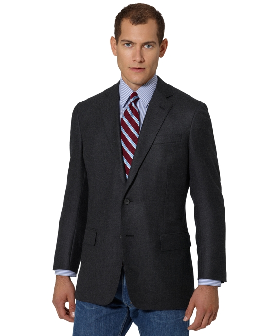 Regent Fit Cashmere Two-Button Sport Coat Charcoal