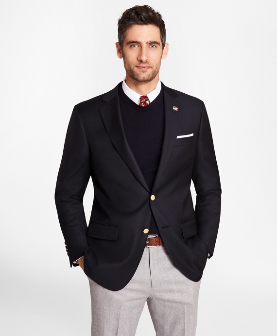 Country Club Saxxon® Wool Two-Button Blazer Navy