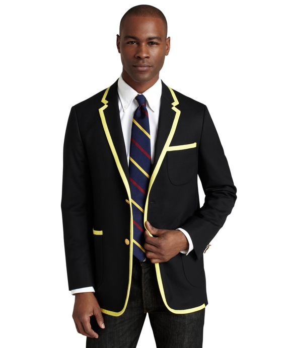 Prep School Blazer with Vintage Trim Navy