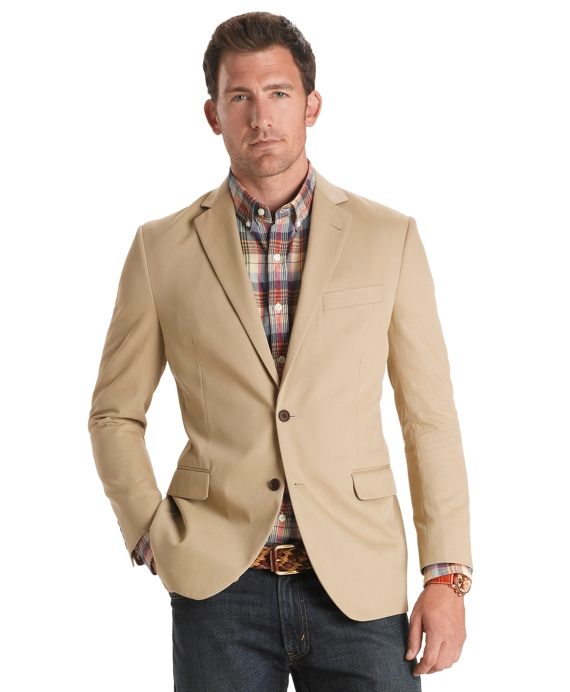 Fitzgerald Fit Soft Cotton Sport Coat Khaki