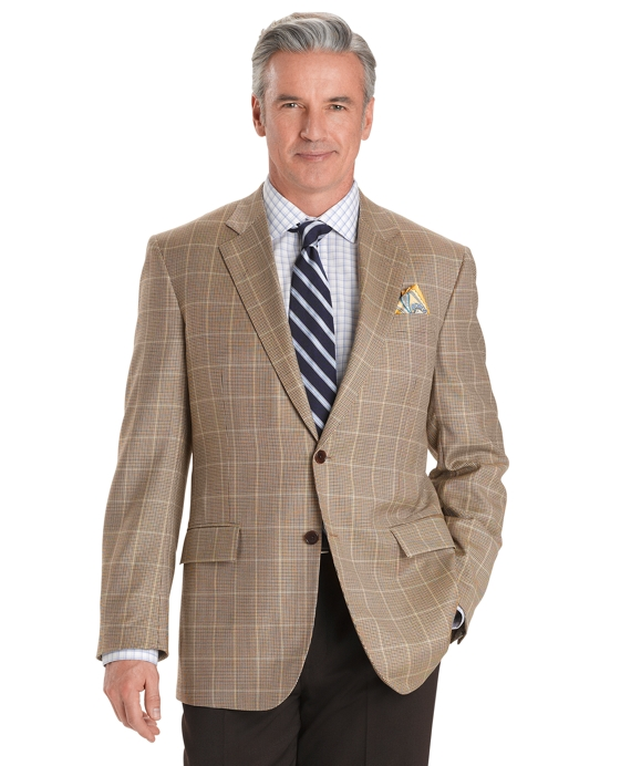 Madison Fit Houndstooth with Deco Sport Coat Tan