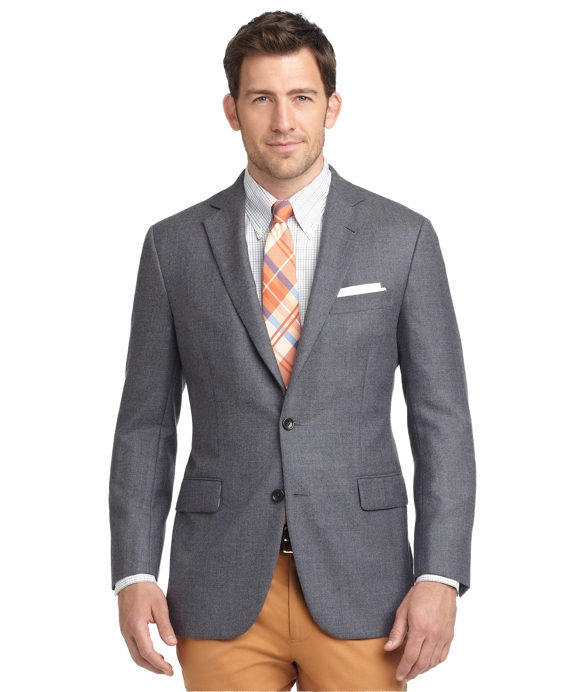 Madison Fit Solid Wool Sport Coat Grey
