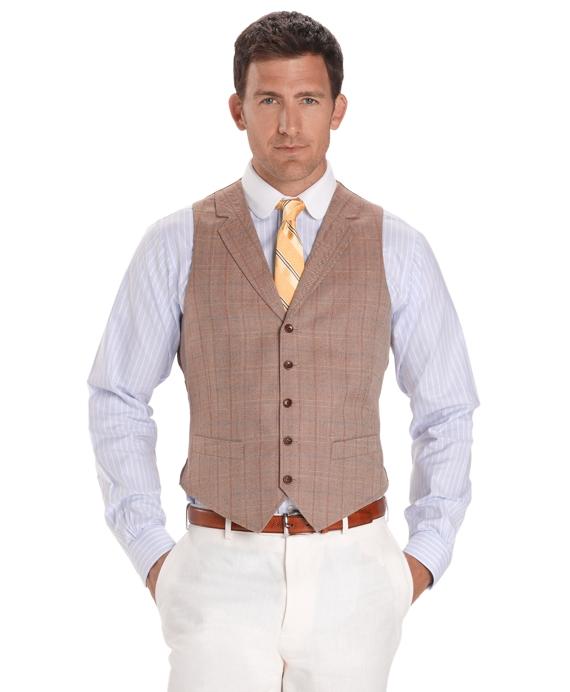 Multi-Deco Herringbone Vest Tan