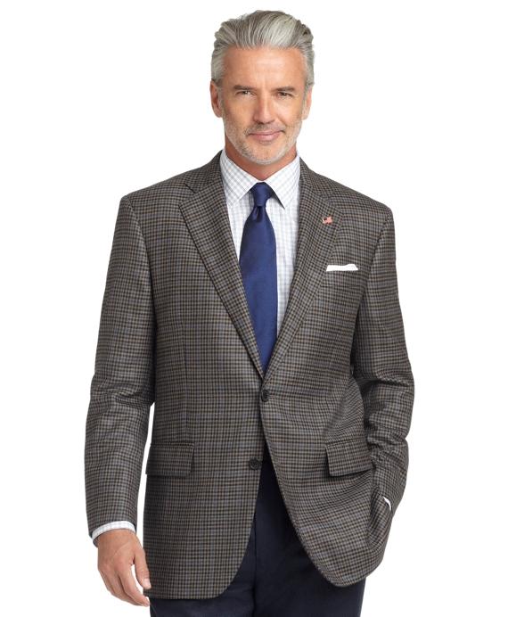 Madison Fit Saxxon Wool Check Deco Sport Coat Grey