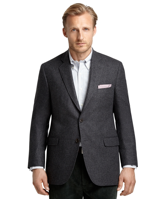 Madison Fit Two-Button Twill Sport Coat Grey